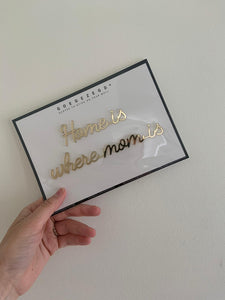Wallsticker - home is where mom is