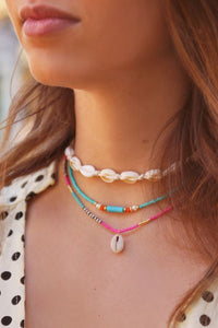 Necklace choker beads blue
