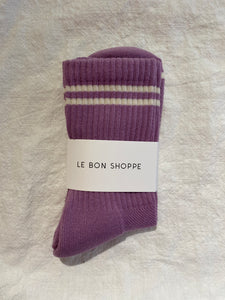 boyfriend socks - grape