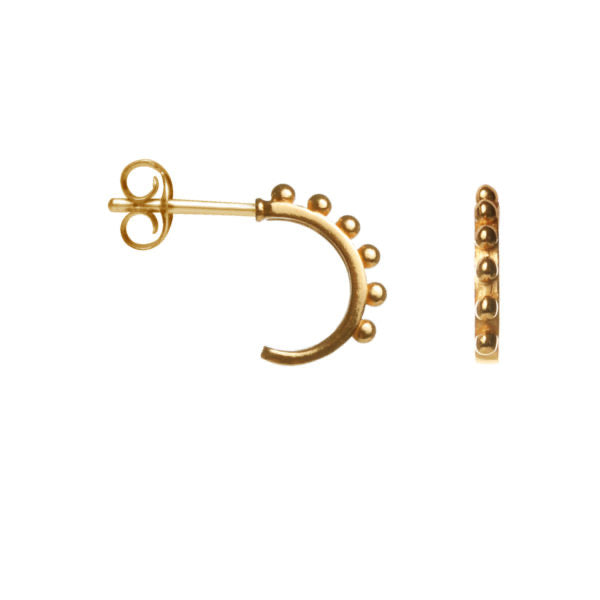 lots of dots earring - gold