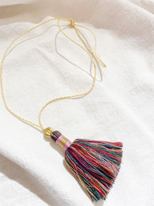 Necklace tassel - red
