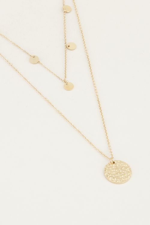 Necklace double coins