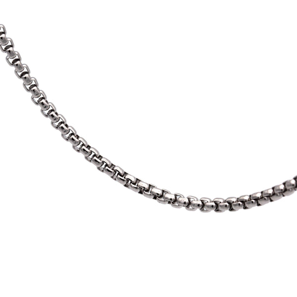 Square Chain Necklace 60 to 4 | Silver