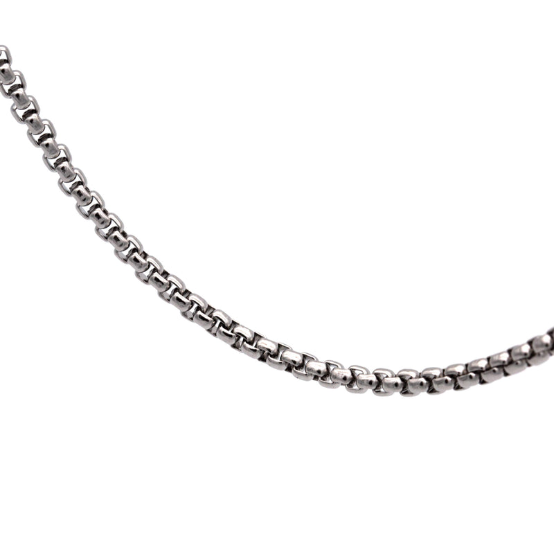 Square Chain Necklace 60 to 3 | Silver