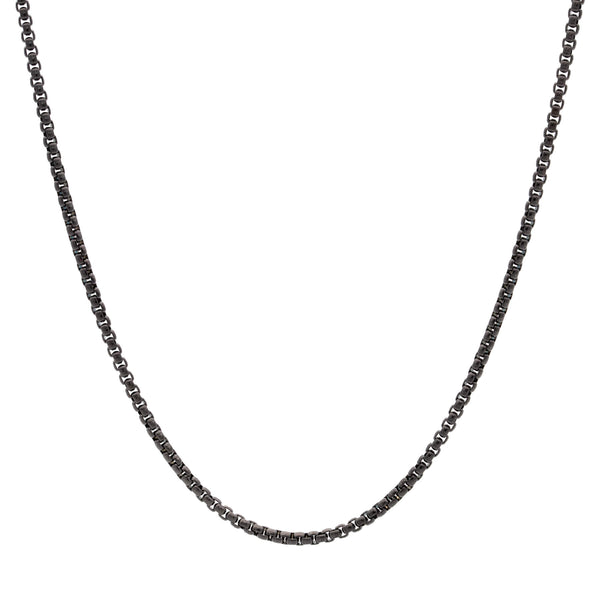 Square Chain Necklace 55 to 3 | Black