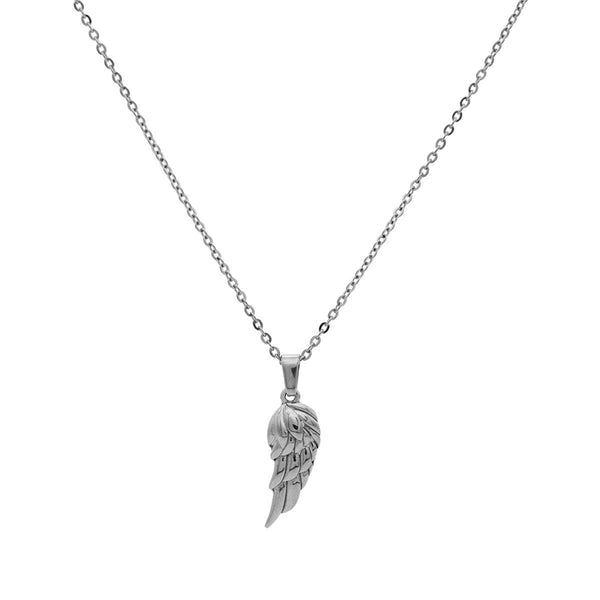 Wing Necklace | Silver