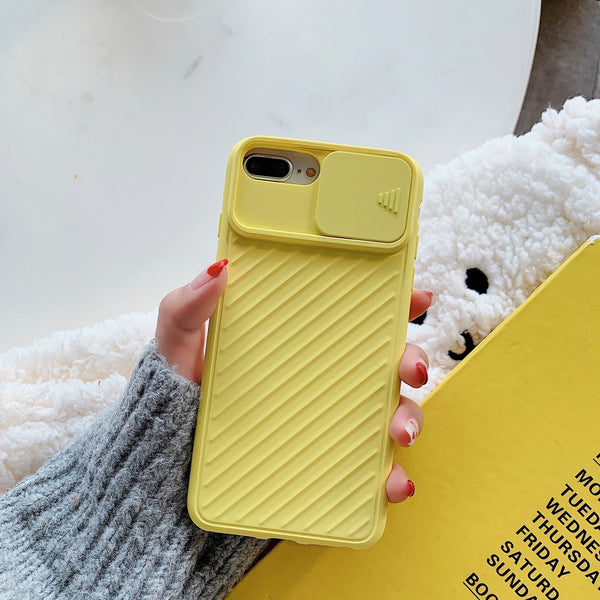 Camera Protection Shockproof Phone Case For iPhone 11 Pro X XR XS Max 7 8 Plus Solid Color Soft TPU Silicone Back Cover