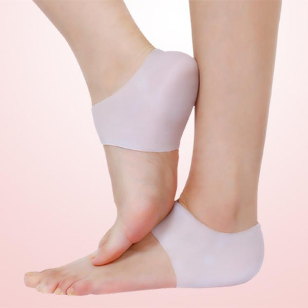 1 Pair Silicone Heel Protector Sleeve Heel Foot Relieve Pain Chapped Anti-Cracking Sock Foot Care