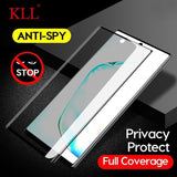 3D Curved Anti-spy Tempered Glass for Samsung Note 10 9 8 Privacy Screen Protector