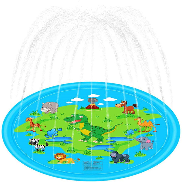 Splash Water Play Mat for 1 -12 Year Old Girls Boys (100cm)
