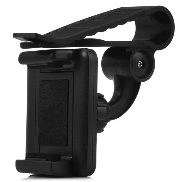 Car Mount Cell Phone Holder Universal 360 Rotating Car Sun Visor Mount Support Clip Bracket for GPS Smartphones