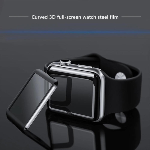 3D curved tempered glass for Apple Watch 3 2 1 4, 42mm, 38mm 40mm 44mm series Protective screen protective film