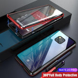 Front And Back Glass Magnetic Case For Huawei Mate 20 Pro Case 360 Transparent Clear Hard Cover Huawei Mate 20Pro Case Mate20Pro