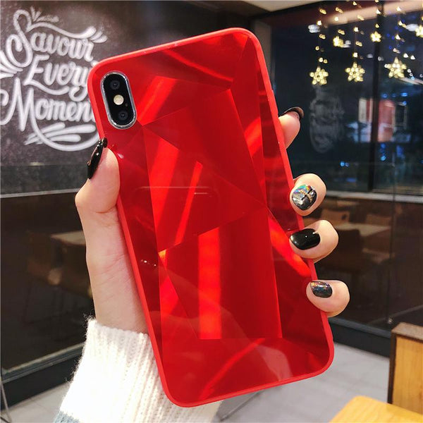 Luxury Mirror Phone Cases for iPhone 7 8 7/8 Plus 6 6s Plus IPhone X XS XR XS Max Etui Diamond Bling Cover