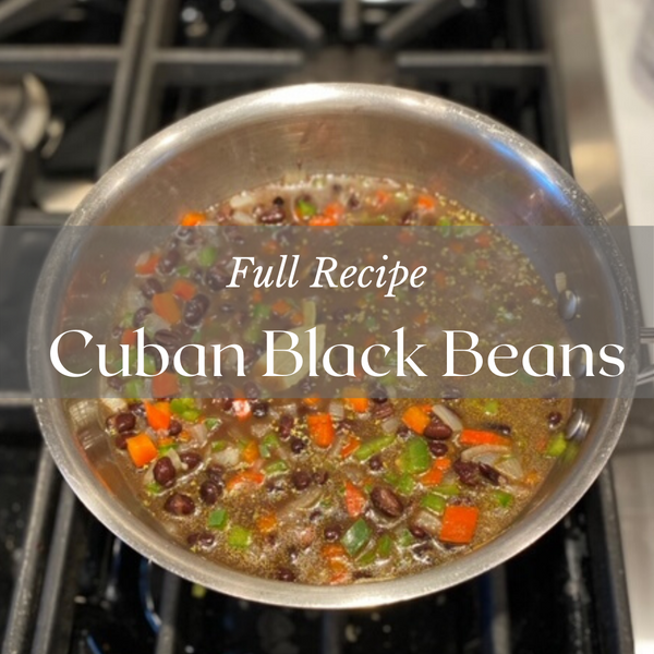 Kristen's Cuban Black Beans Recipe
