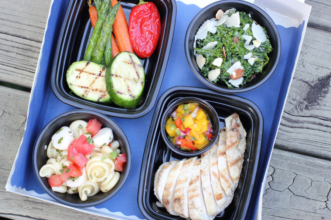 Grilled Chicken with Kale Caesar Picnic Boxes