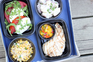 Grilled Chicken with Caprese Salad Picnic Boxes