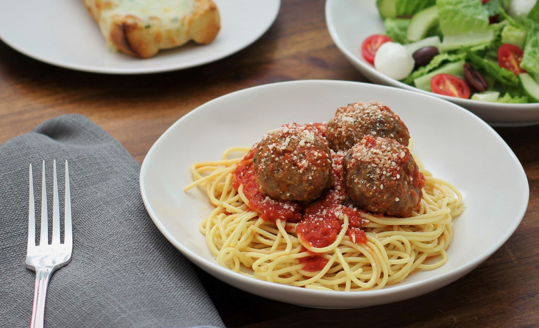 Thursday July 30: Old Fashioned Spaghetti with Meatballs and Marinara