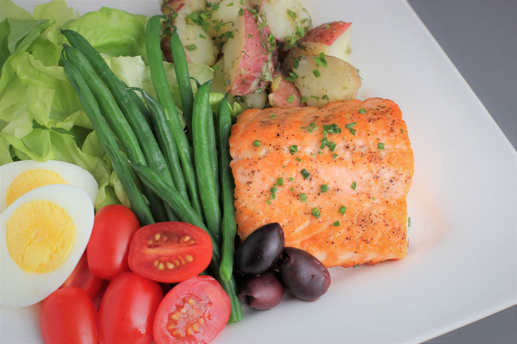 Thursday May 6: Salmon Salad Nicoise