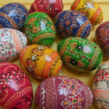 Load image into Gallery viewer, Hand Painted Wooden Eggs