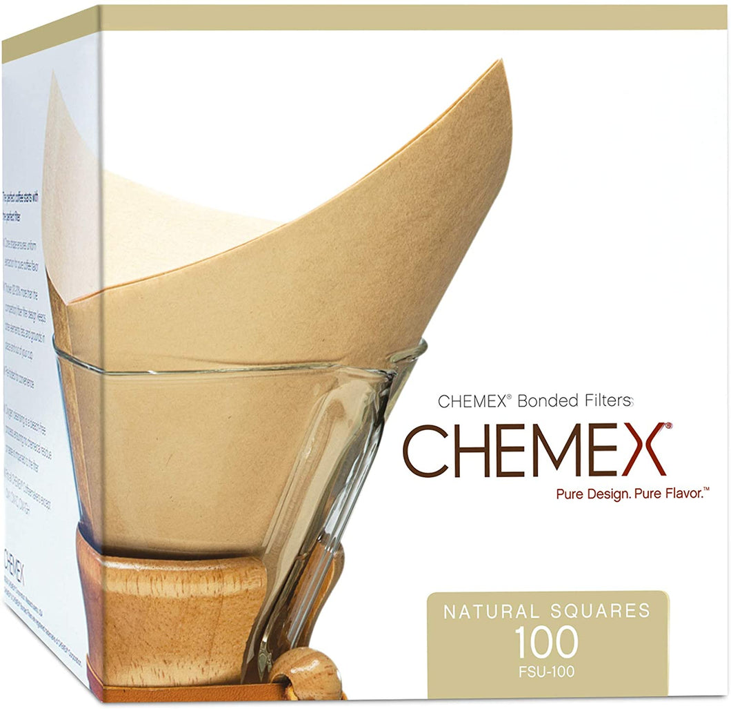 Chemex Bonded Filters Pre-Folded Squares (Natural)