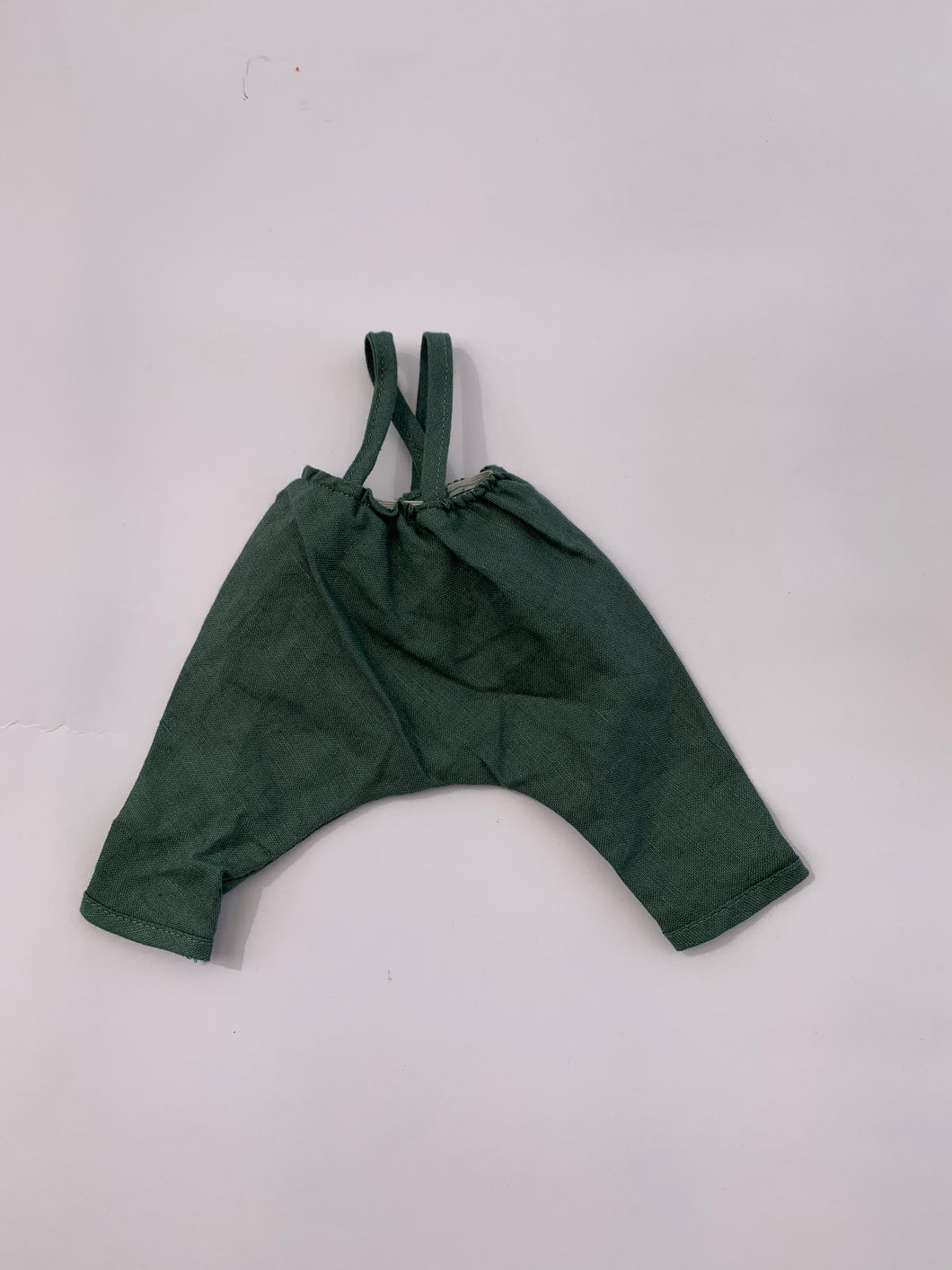 Hazel Village - Linen Overalls in River Green