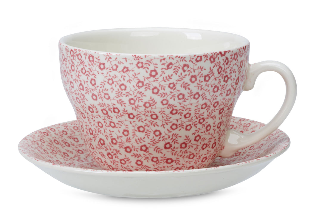 Burleigh Rose Pink Felicity Breakfast Cup and Saucer (RETIRED)