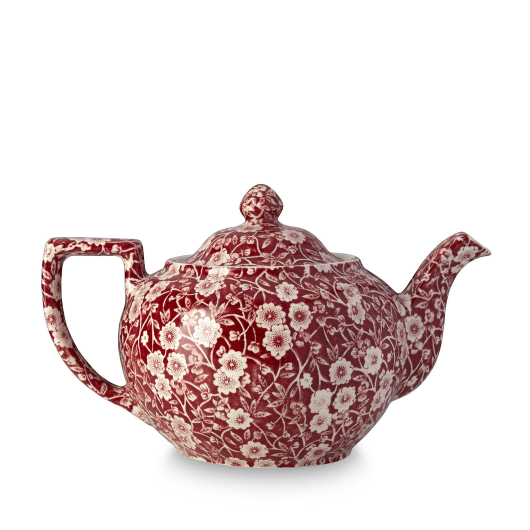 Burleigh Red Calico Teapot - Large (RETIRED)