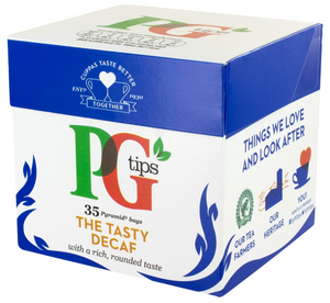 PG Tips Decaffeinated Black Tea - 35 Tea Bags