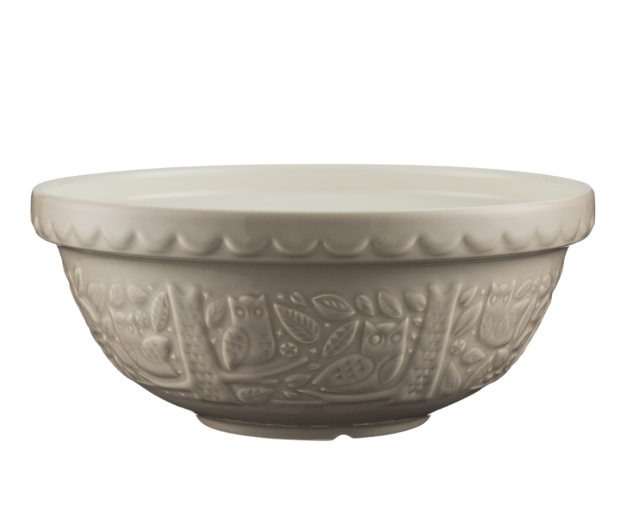 Mason Cash Mixing Bowl 2.85 QT - In the Forest Collection, Stone