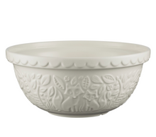 Load image into Gallery viewer, Mason Cash Mixing Bowl 4.25 QT - In the Forest Collection, Cream