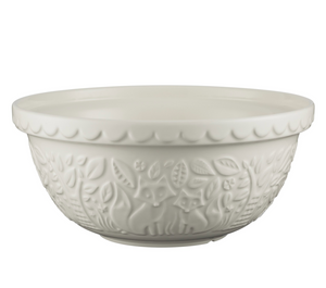 Mason Cash Mixing Bowl 4.25 QT - In the Forest Collection, Cream