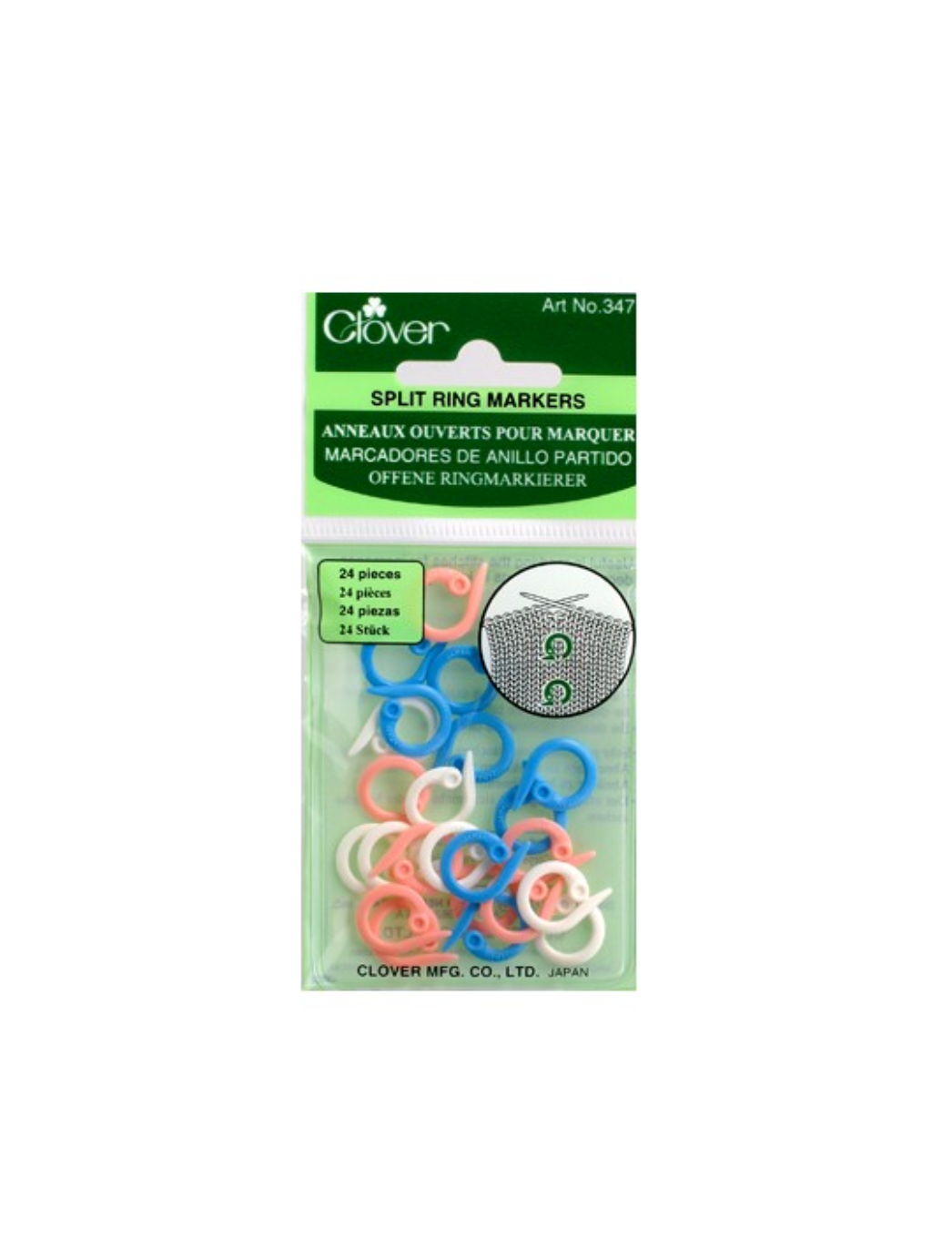 Clover Stitch Markers - Split Ring