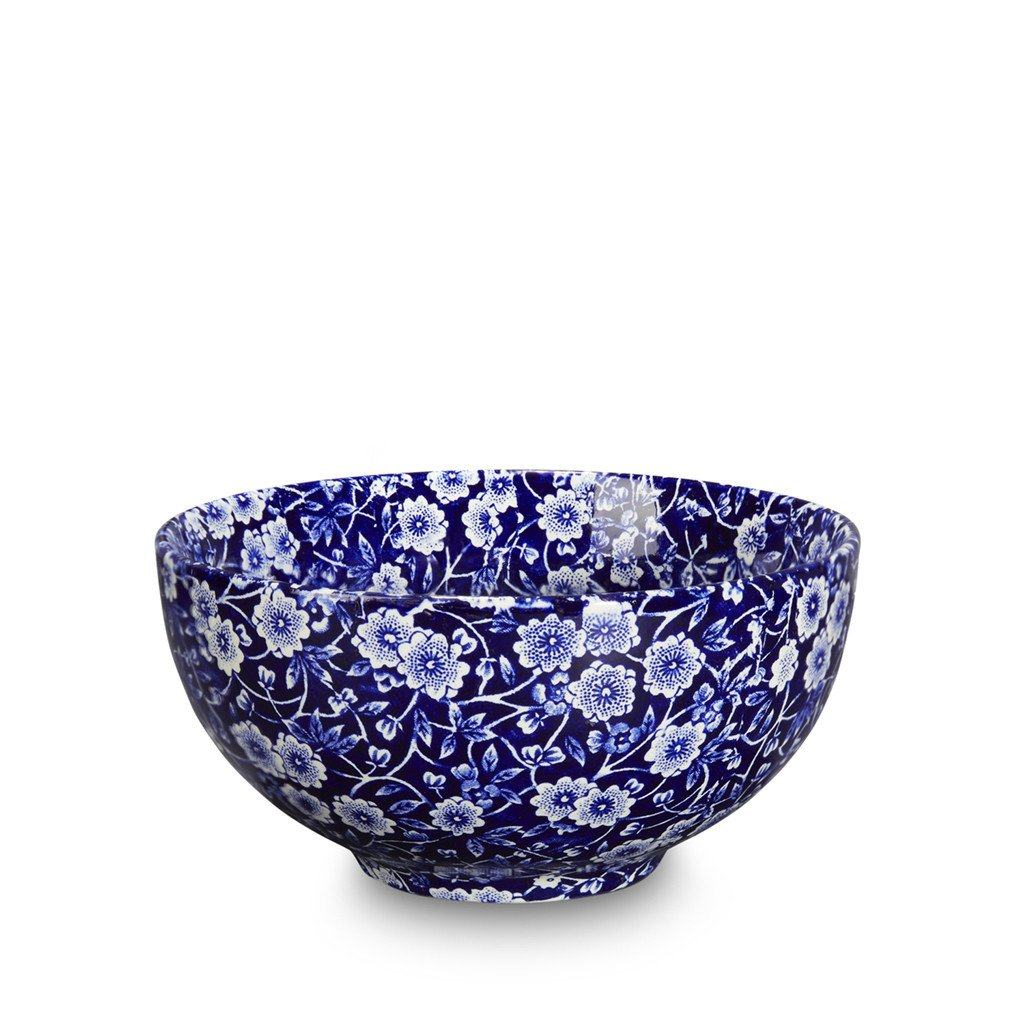 Burleigh Blue Calico Footed Bowl - Small
