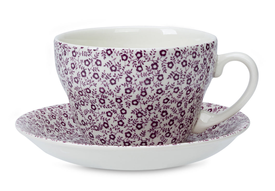 Burleigh Mulberry Felicity Breakfast Cup and Saucer (RETIRED)