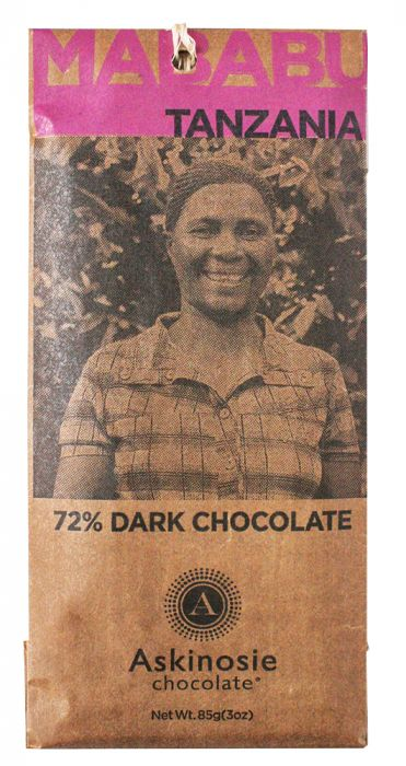 Askinosie Chocolate Bar - 72% Mababu, Tanzania Dark Chocolate Bar