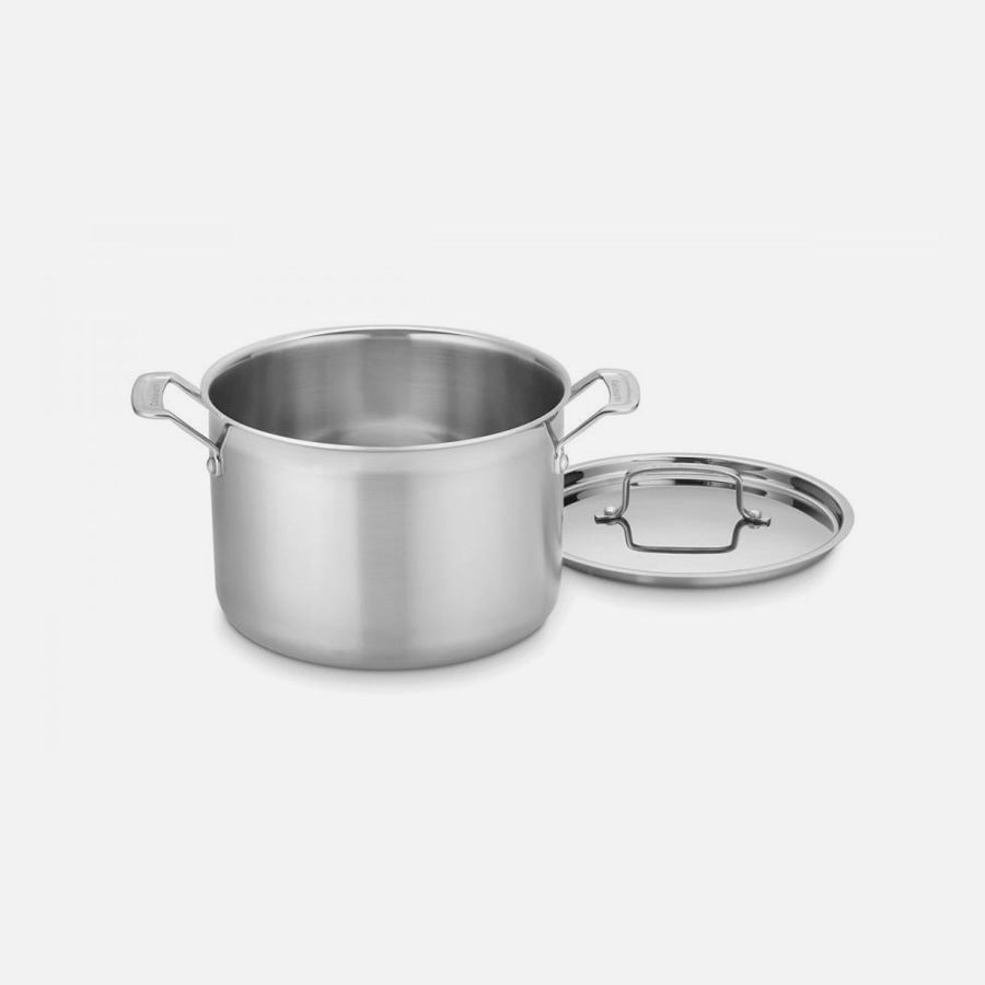 Cuisinart MultiClad Pro Triple Ply Stainless Cookware - 8 Qt Stockpot with Lid