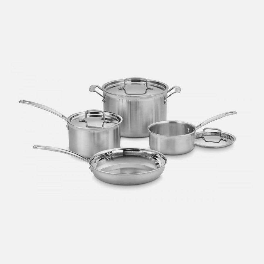 Cuisinart MultiClad Pro Triple Ply Stainless Cookware - 7 Piece Set