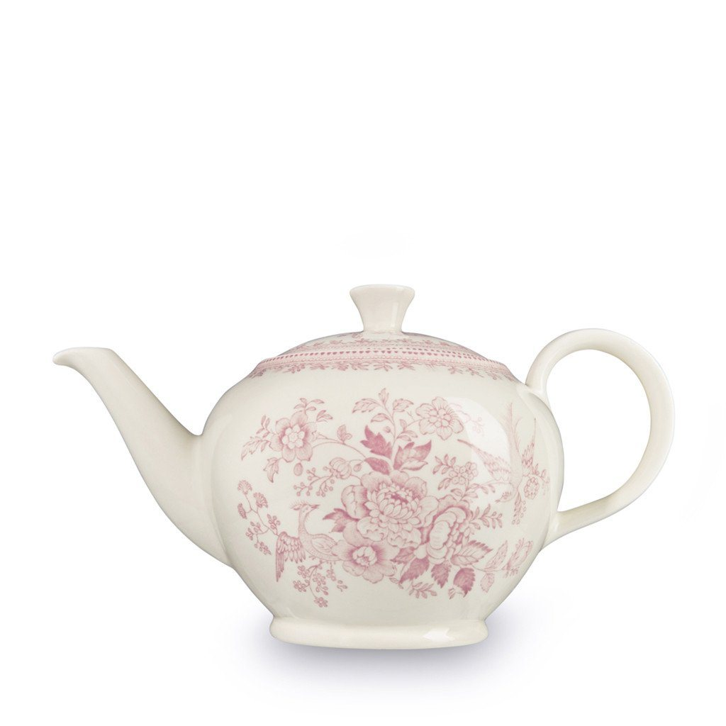 Burleigh Pink Asiatic Pheasant Teapot - Large (RETIRED)