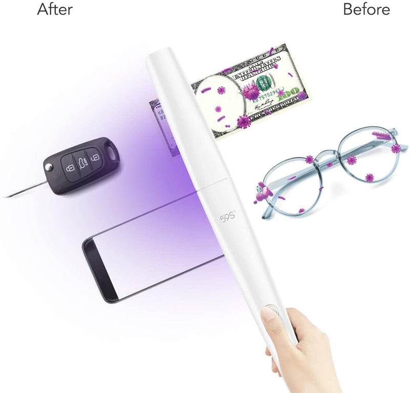 Foldable Ultraviolet Light Sterilization Wand