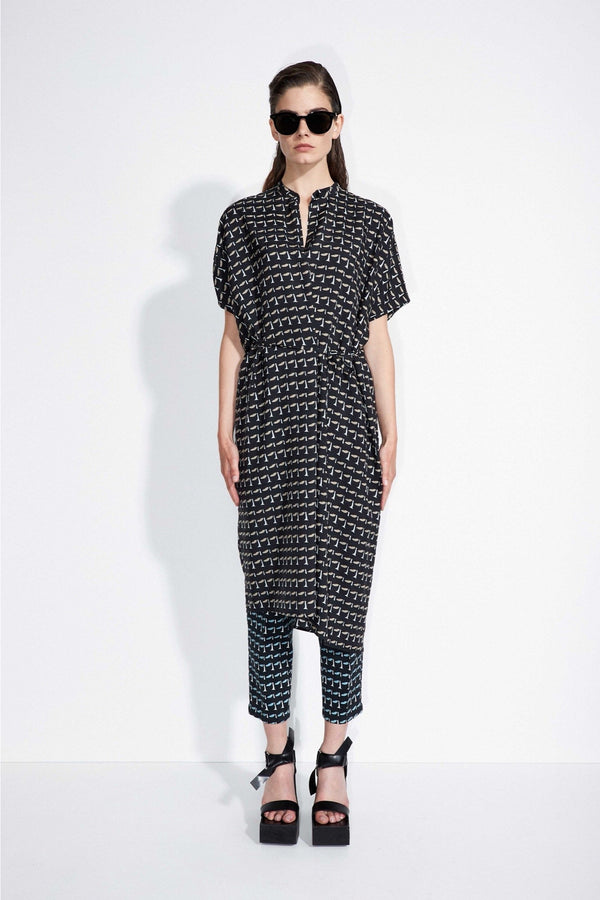 "Christian Wijnants - SS21 Pre - Women-Bedrucktes Kleid ""Dipha"" aus einem Seidenmaterial-Tunic Dress"