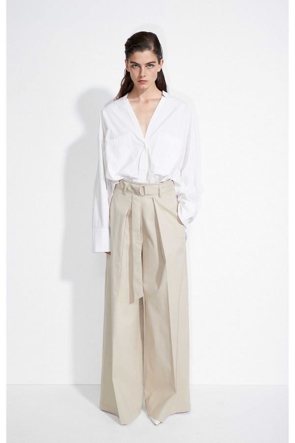 "Christian Wijnants - SS21 Pre - Women-""Paska"" Hose in einem Baumwollmaterial-Wide Leg Pants Pleat"