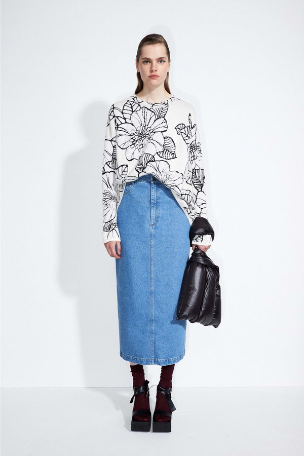 "Christian Wijnants - SS21 Pre - Women-Jeansrock ""Sare"" in Denim-Skirt"