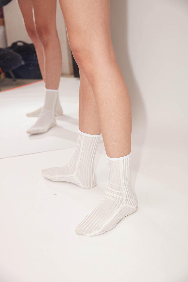RIB Velvet Ankle Socks - Simone Wild - Melagence Local