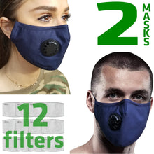 Load image into Gallery viewer, 2 X Dust Masks | Cotton | 12 Filters Included