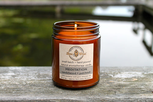 MEDITATION Aromatherapy Candle - patchouli and cedarwood