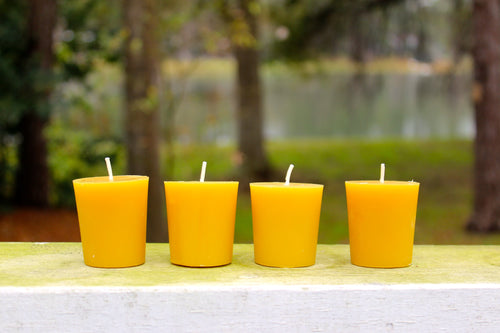 PURE BEESWAX VOTIVE CANDLES