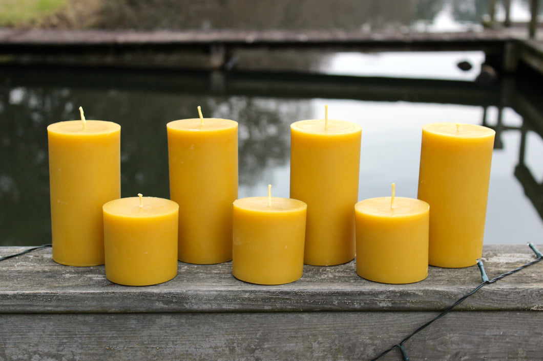 PURE BEESWAX - Pillar Candles
