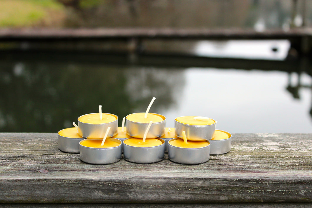 PURE BEESWAX - Tea Light Candles