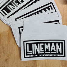 Load image into Gallery viewer, LINEMAN logo sticker